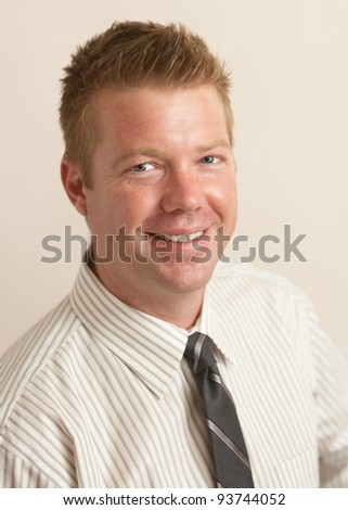 Handsome casual business portrait young man - stock photo