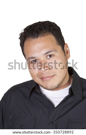 Handsome Casual Hispanic Man - Isolated background
