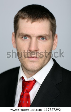 handsome caucasian man blank - stock photo