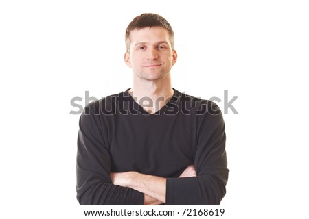 Handsome cheerful guy isolated on white