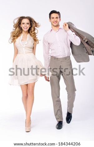 Handsome couple - stock photo