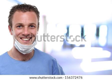 Handsome doctor  - stock photo