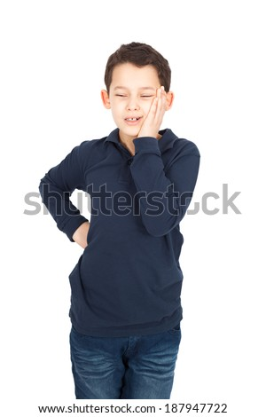 Handsome little boy posing - stock photo