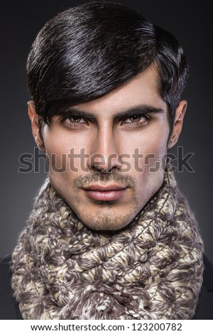 Handsome male beauty portrait - stock photo