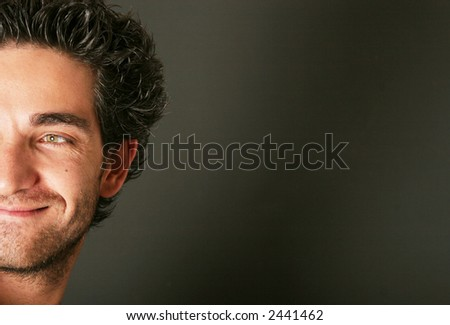 Handsome male model smiling