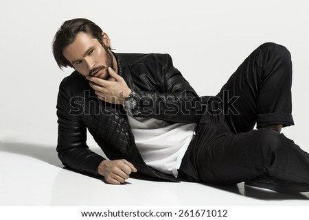 Handsome man - stock photo