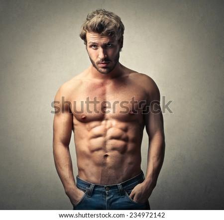 Handsome man posing  - stock photo