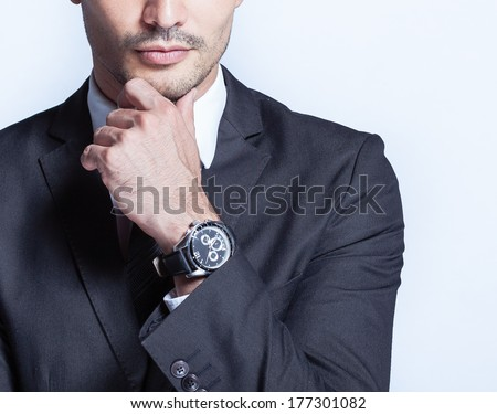 Handsome man smiling. - stock photo