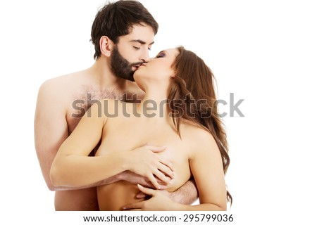 Man kiss woman breast