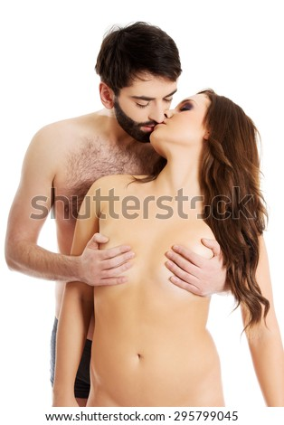 men kissing a woman boob and naken