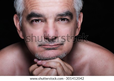 Handsome mature man portrait - stock photo