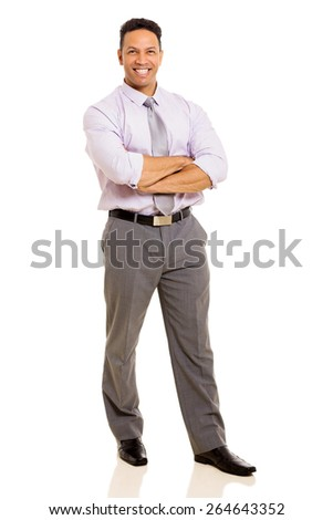 handsome mid age businessman standing on white background - stock photo