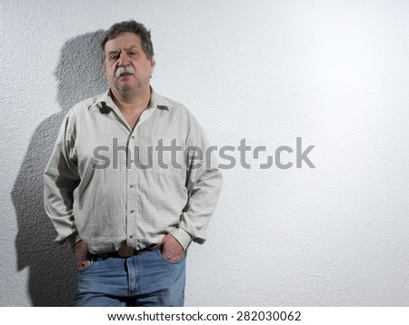 Handsome middle age business man
