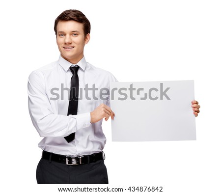 Handsome stylish businessman on white background