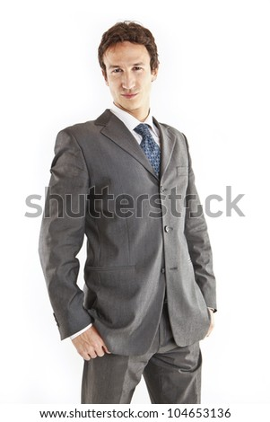handsome young businessman - stock photo