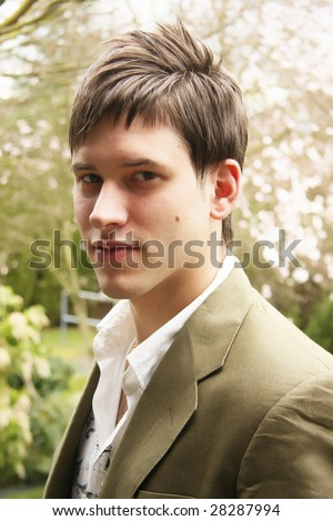 Handsome young man. - stock photo