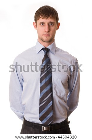 handsome young man in shirt and tie - stock photo