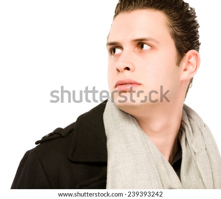 Handsome young man Indoors shot - stock photo