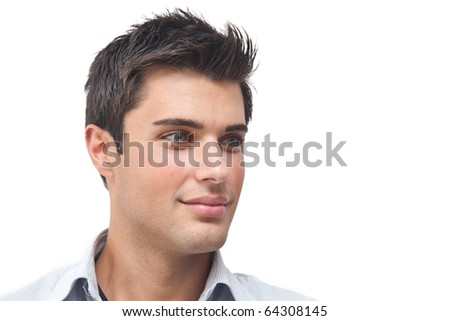Handsome young man portrait - stock photo