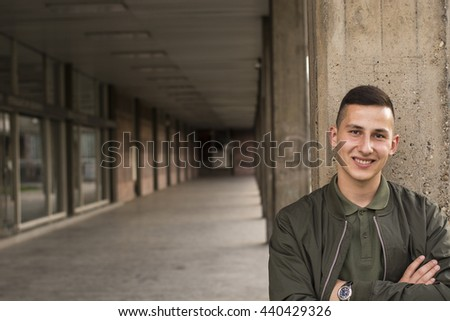 Handsome young man posing  - stock photo