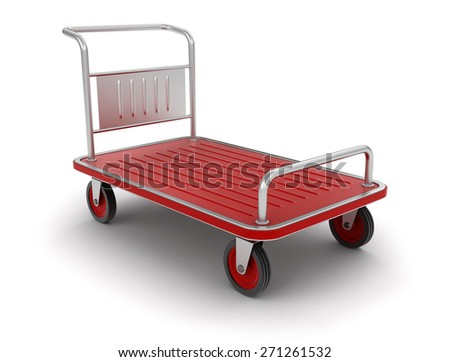 Handtruck (clipping path included) - stock photo