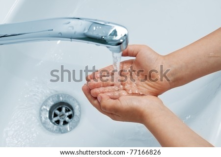 handwashing - stock photo