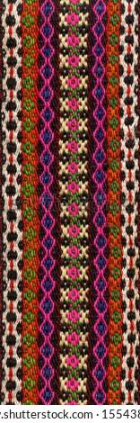 Handwoven belt, detail - stock photo
