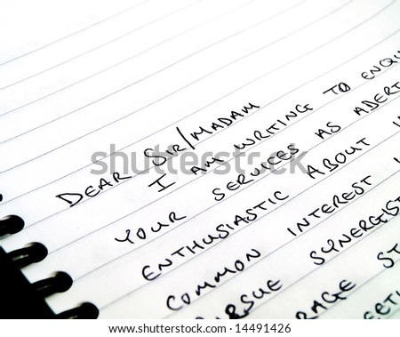 Handwritten Writing A Letter On Plain White Lined Paper  Lined Letter Paper