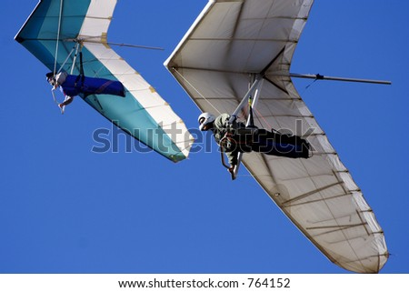 Hang gliders - stock photo
