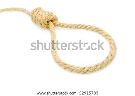 hang knot - stock photo