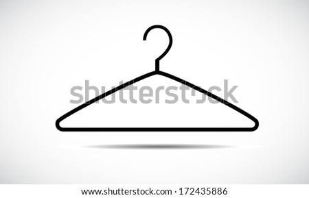 Hanger icon isolated on white background. - stock photo