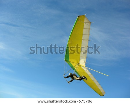hangglider - stock photo