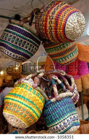Hanging Baskets - stock photo