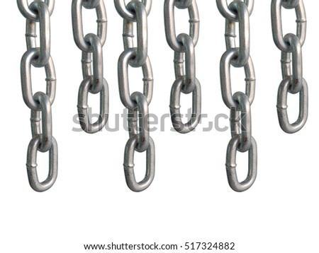 hanging chains, isolated on white background