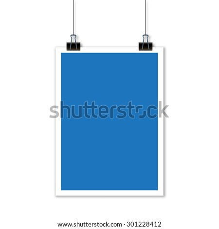 hanging paper sign - stock photo
