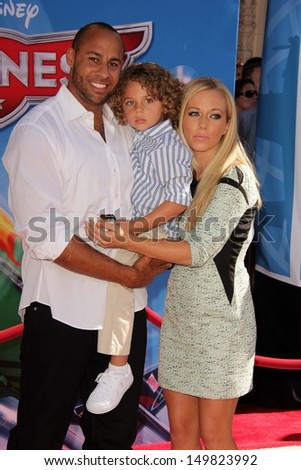 Hank Baskett and Kendra Wilkinson at the World Premiere Of Disney's Planes, El Capitan, Hollywood, CA 08-05-13 - stock photo