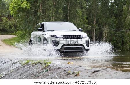 Elegant Hanoi, Vietnam   July 13, 2016: Range Rover (Land Rover) Evoque