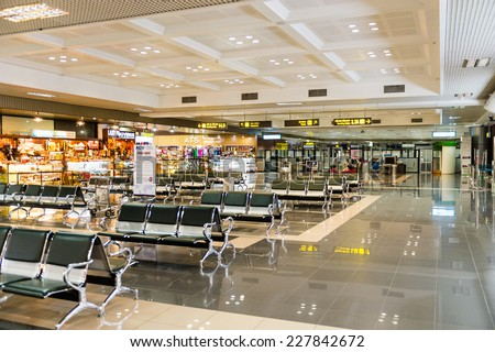 HANOI, VIETNAM - SEP 24, 2014: Interioir of the Noi Bai International Airport in Hanoi, Vietnam. It is the largest airport in the north of the country.
