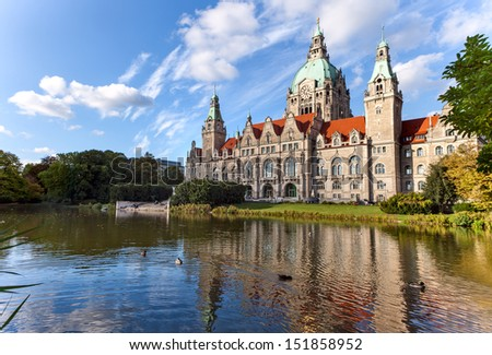Hanover city-hall - stock photo