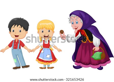 how to draw hansel and gretel cartoon