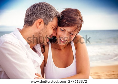 happiness in summertime sunny travel - stock photo