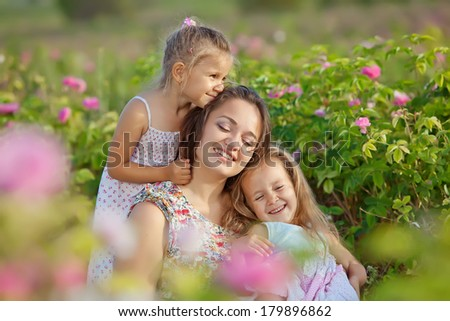 Happiness - mother with baby on nature