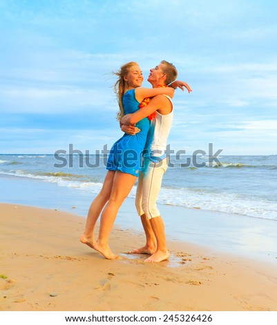 Happiness Portrait Honeymoon  - stock photo