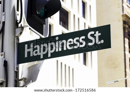 Happiness Street Creative Sign