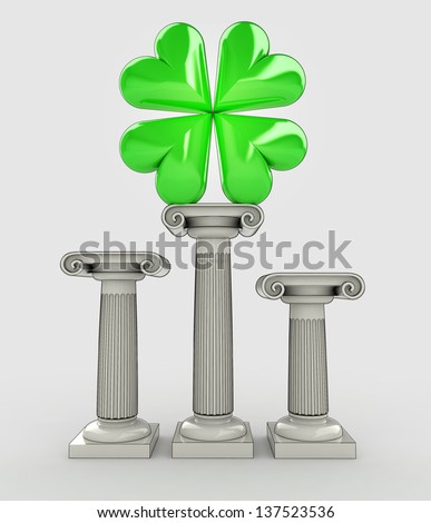 happiness to your life concept with cloverleaf illustration - stock photo