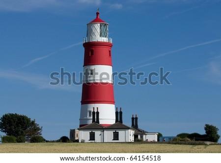 Happisburgh Lighthouse Norfolk England - stock photo