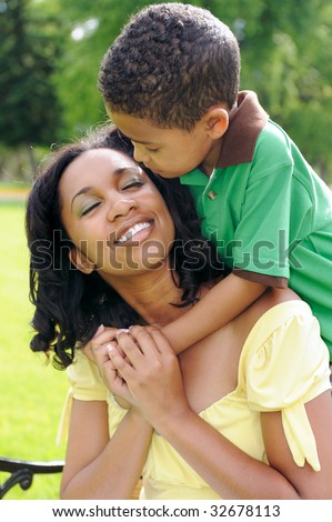 Happy African American Family - stock photo
