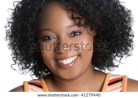 Happy African American Girl - stock photo