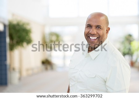 Happy African American Man - stock photo
