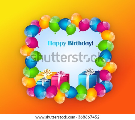 Happy and colorful happy birthday background to greeting